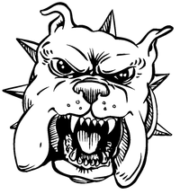 Bulldog Mascot Decal / Sticker 3