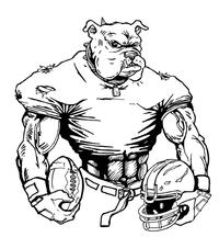 Football Bulldog Mascot Decal / Sticker 10