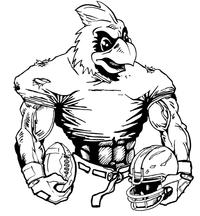 Football Cardinals Mascot Decal / Sticker 6