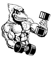 Weightlifting Cardinals Mascot Decal / Sticker 5