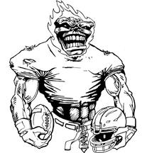 Football Comets Mascot Decal / Sticker 08