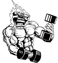 Weightlifting Comets Mascot Decal / Sticker 5