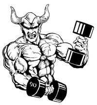 Weightlifting Devils Mascot Decal / Sticker 5