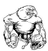 Football Eagles Mascot Decal / Sticker 10
