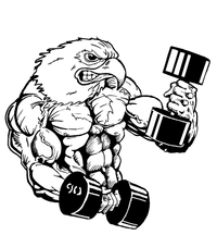 Weightlifting Eagles Mascot Decal / Sticker 5