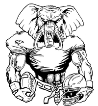 Football Elephants Mascot Decal / Sticker 10