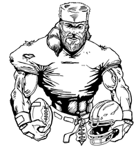 Football Frontiersman Mascot Decal / Sticker 7