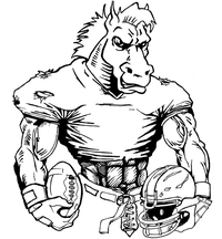 Football Horse Mascot Decal / Sticker 9