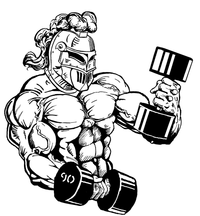 Weightlifting Knights Mascot Decal / Sticker 5