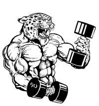 Weightlifting Leopards Mascot Decal / Sticker 2