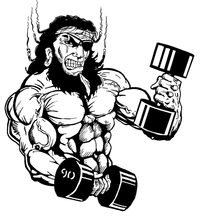 Weightlifting Pirates Mascot Decal / Sticker 2