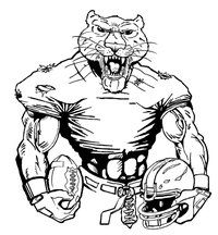 Football Cougars / Panthers Mascot Decal / Sticker 6