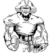 Football Patriots Mascot Decal / Sticker 2