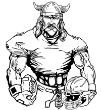 Football Vikings Mascot Decal / Sticker 5