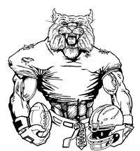 Football Wildcats Mascot Decal / Sticker 4