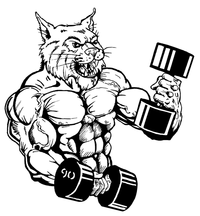 Weightlifting Wildcats Mascot Decal / Sticker 2