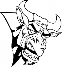 CUSTOM BULLS MASCOT DECALS AND BULLS MASCOT STICKERS