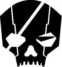 Militia Skull Decal / Sticker 02