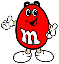 Red M&M Decal / Sticker 14