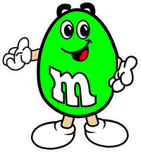 Green M&M Decal / Sticker 16
