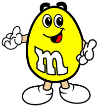 Yellow M&M Decal / Sticker 19