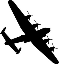 Bomber Airplane Decal / Sticker 04