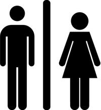 Bathroom Door Toilet Decal / Sticker 02