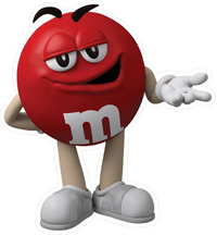 Red M&M Decal / Sticker 37