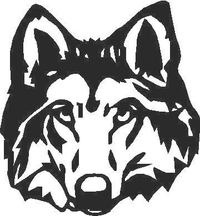 Wolf Decal / Sticker 01