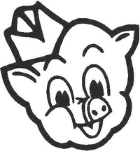 Pig Decal / Sticker 01