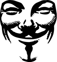 V For Vendetta Anonymous Decal / Sticker 02