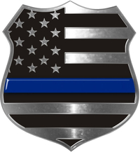 Thin Blue Line Police Badge Decal / Sticker 01