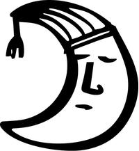 Sleeping Moon Decal / Sticker 04