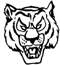 Tigers Head Mascot Decal / Sticker