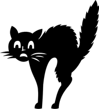 Scary Cat Decal / Sticker 6