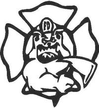 Fire Dog Decal / Sticker 01