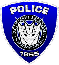 Decepticon Police Shield Decal / Sticker 32