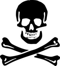 Jolly Roger Flag Decal / Sticker 25