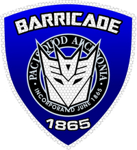 Barricade Police Shield Decal / Sticker 41