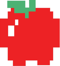 Pac-Man Apple Decal / Sticker 14