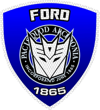 Ford Police Shield Decal / Sticker 44