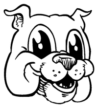 Bulldog Mascot Decal / Sticker 1
