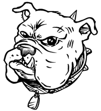 Bulldog Mascot Decal / Sticker 5