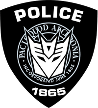 Decepticon Police Decal / Sticker 36