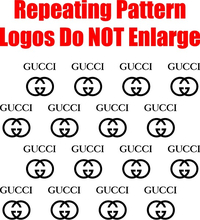 Gucci Step and Repeat Pattern Decal / Sticker 05