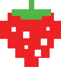 Pac-Man Strawberry Decal / Sticker 12