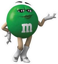 Green Female M&M Decal / Sticker 50