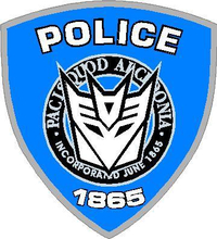 Decepticon Police Transformers Decal / Sticker