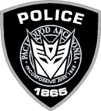 Decepticon Police Decal / Sticker 16