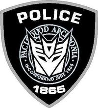 Decepticon Police Decal / Sticker 16